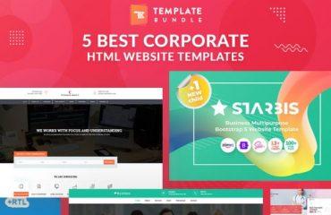 5 Best Corporate HTML Website Templates   Template Bundle