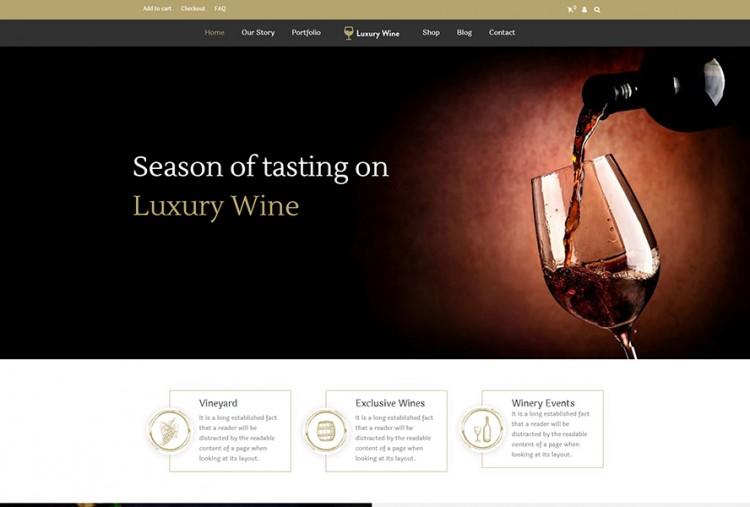 Luxury Wine And Liquor Store WordPress Theme