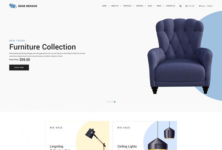 Furniture shop html website template