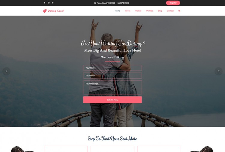 Online Dating Coach WordPress Theme