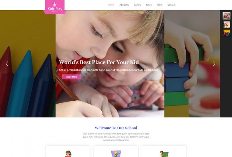 Kids Play School WordPress Theme