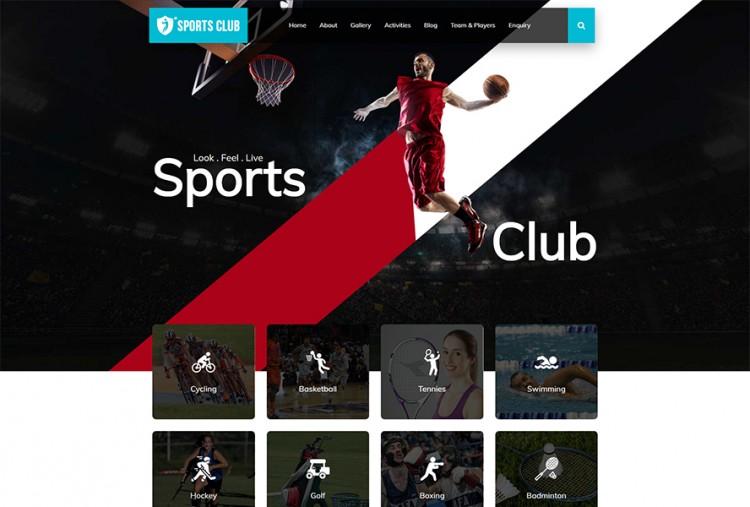 sports club html website template premium html website templates wordpress themes template bundle sports club html website template