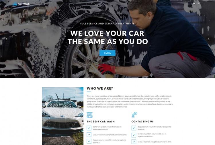 Car Wash WordPress Theme