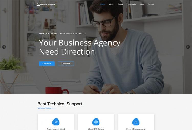 Remote Technical Support WordPress Theme