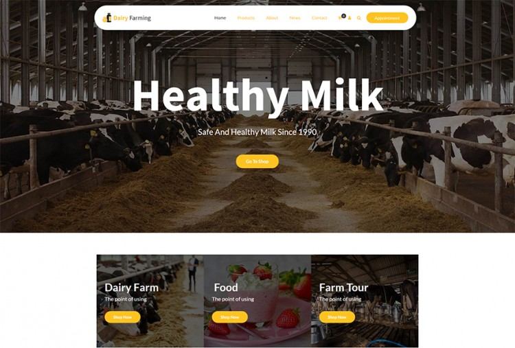 Dairy Farm WordPress Theme