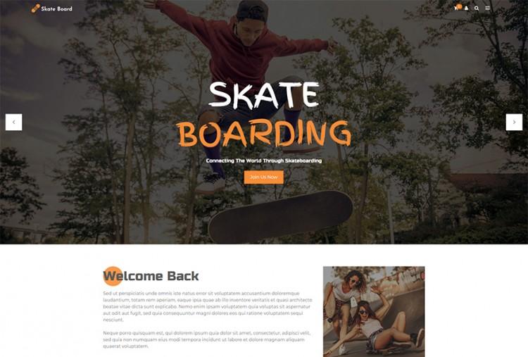 Skateboard WordPress Theme