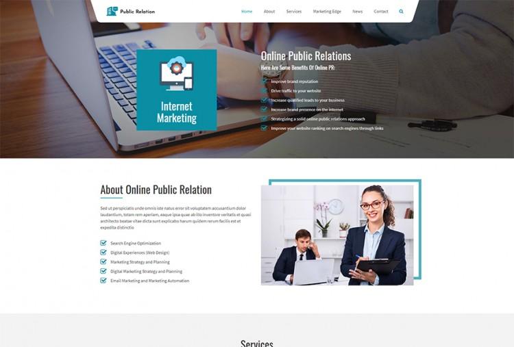 Online Public Relations WordPress Theme