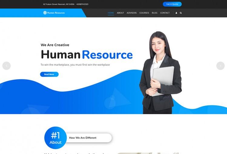 Human Resource Management WordPress Theme