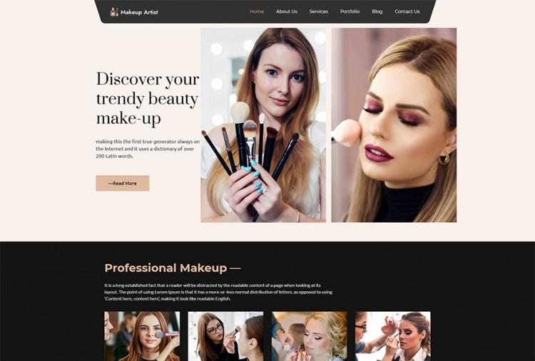 Makeup Artist WordPress Theme Premium