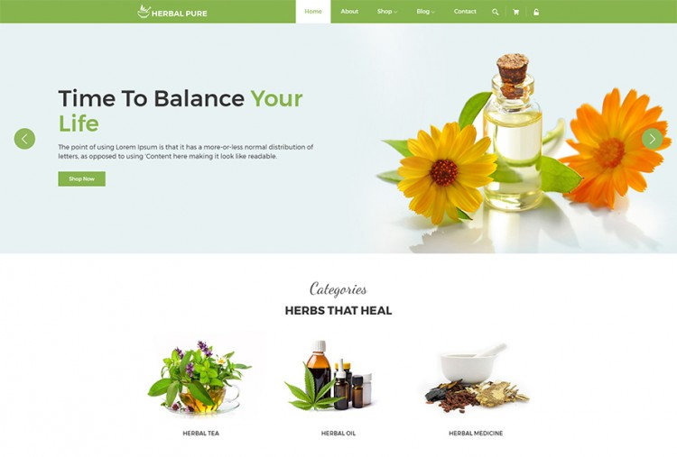 Herbal Medicare HTML Template