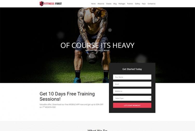 Fitness HTML Website Template