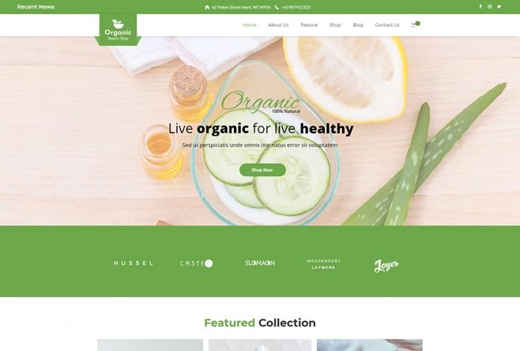 Organic Beauty Shop WordPress Theme