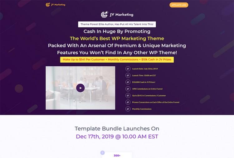 Affiliate JV Page WordPress Theme