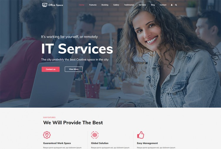 Coworking Space WordPress Theme | Shared Office Themes