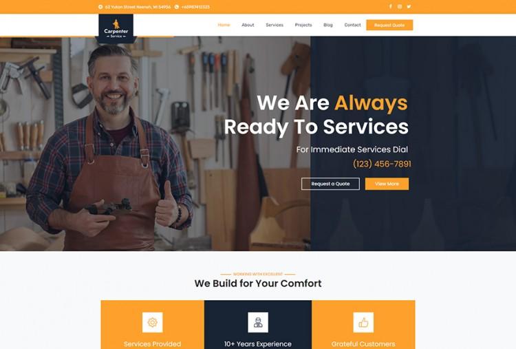 Carpenter Business WordPress Theme