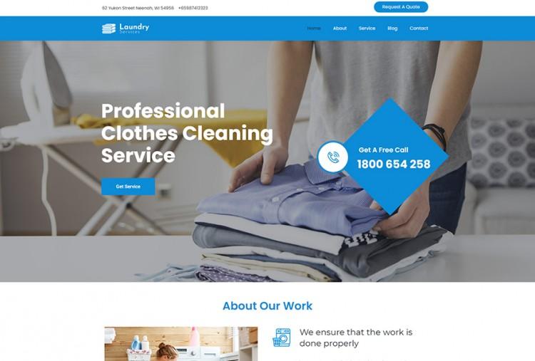 Laundry Services WordPress Theme