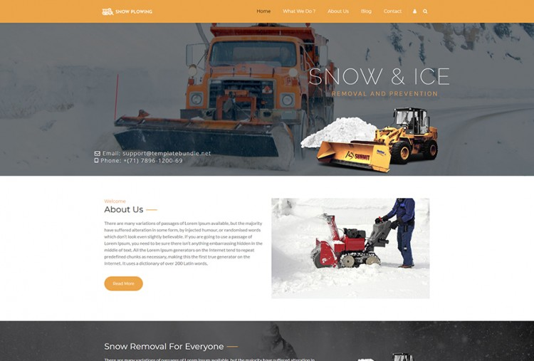 Snow Plowing WordPress Theme