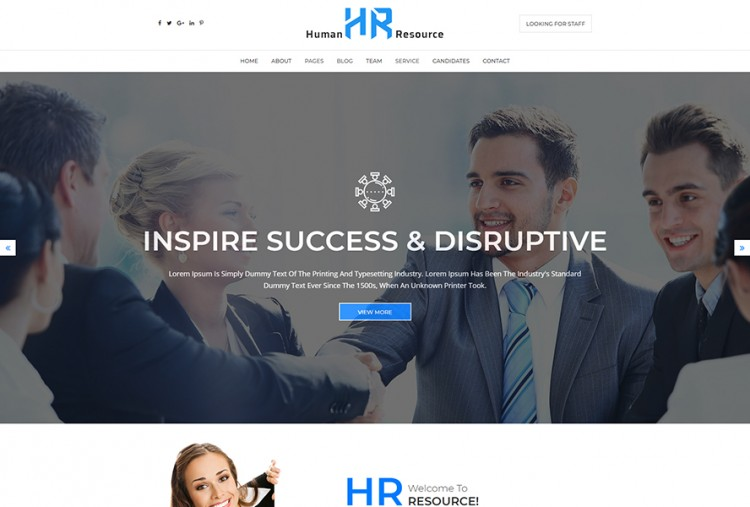 Human Resources HTML Website Template