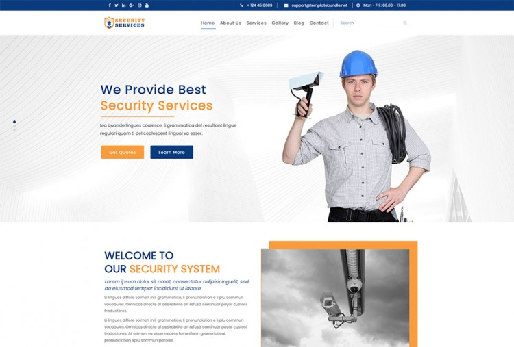 Security Services HTML Website Template