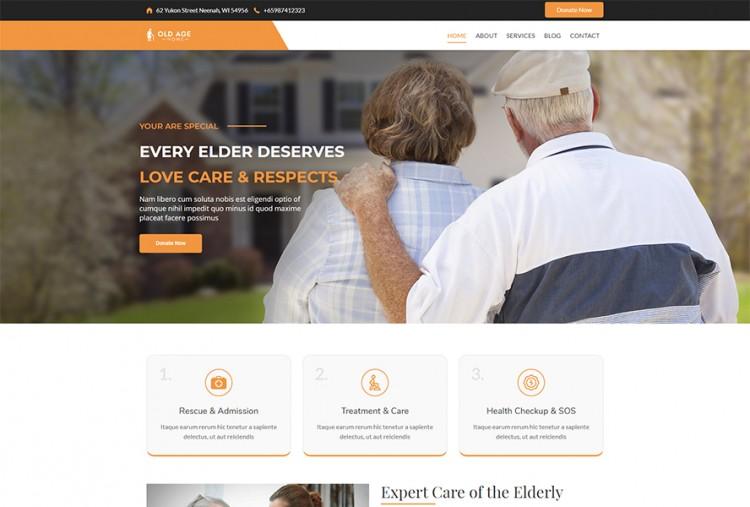 Old Age Home WordPress Theme