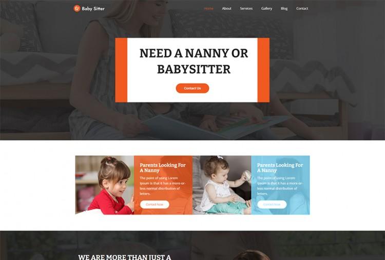 Babysitter WordPress Theme | Nanny Service WordPress Theme