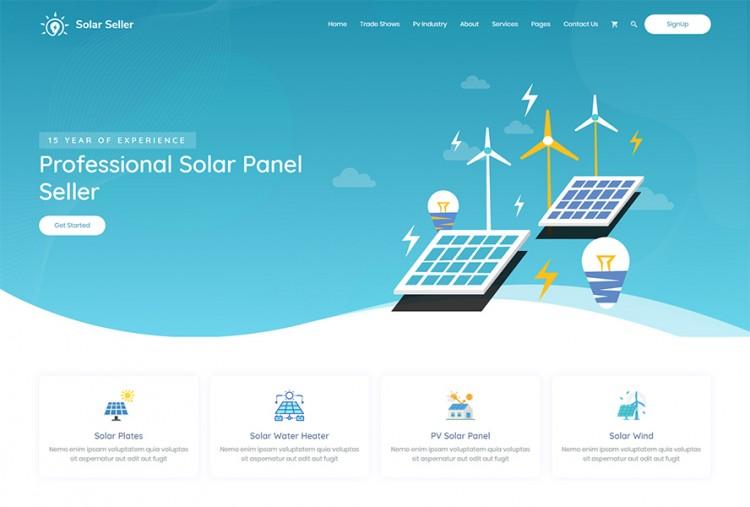 Solar Energy HTML Website Template