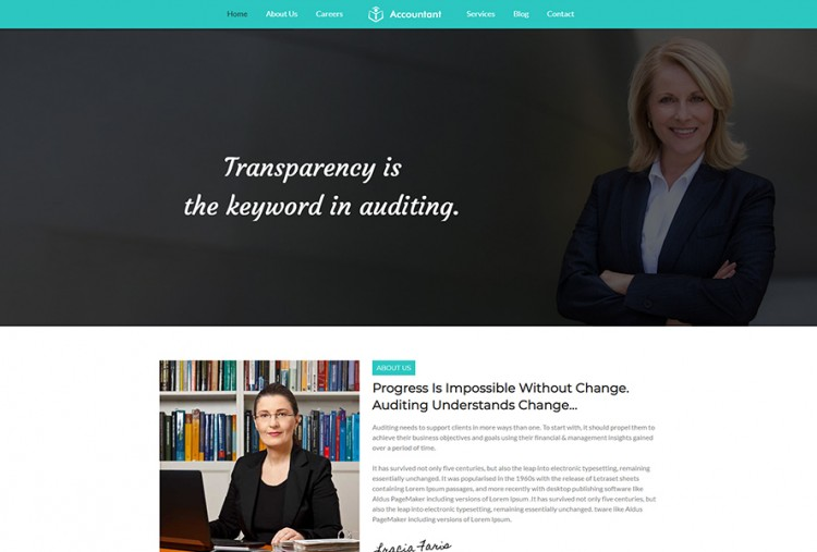Chartered Accountant WordPress Theme