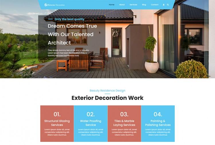 Exterior Decoration WordPress Theme