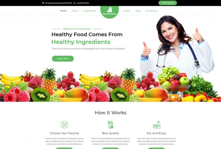 Supplement Store WordPress Theme   Health and Nutrition Shop