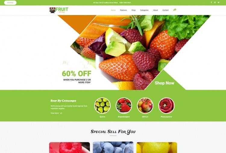 Online Fruits Shop Wordpress Theme