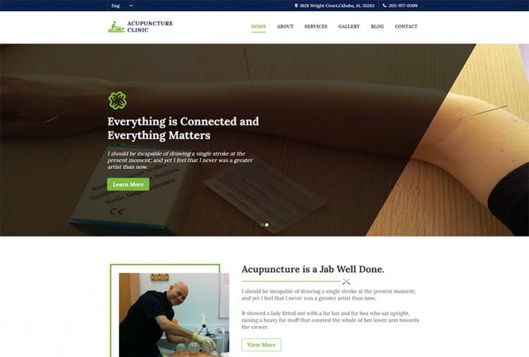 Acupuncture HTML Website Template