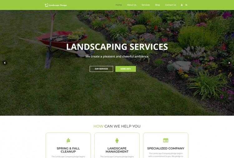 Landscape Design Wordpress Theme Premium Html Website Templates Wordpress Themes Template Bundle