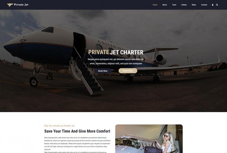 Private Jet WordPress Theme
