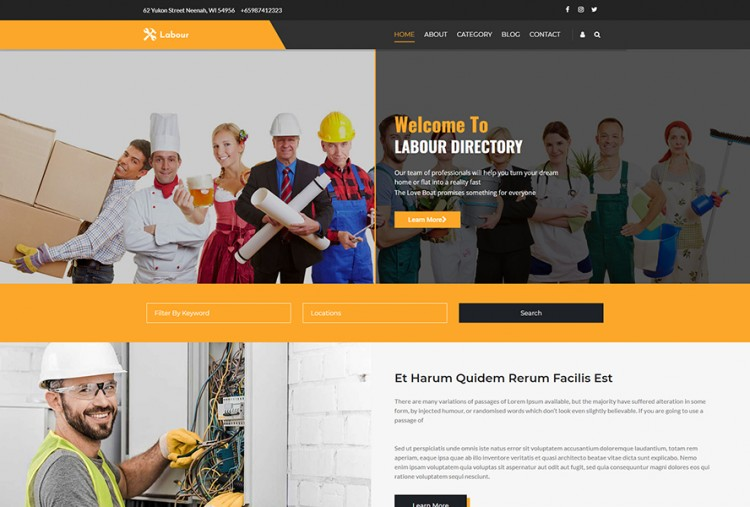 Labour And Worker WordPress Theme