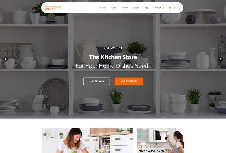 Kitchen Store WordPress eCommerce Themes