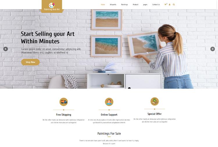 Painting and Art WordPress Themes