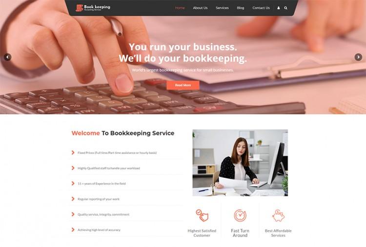 Bookkeeper - Bookkeeping WordPress Theme   Accounting WP Theme
