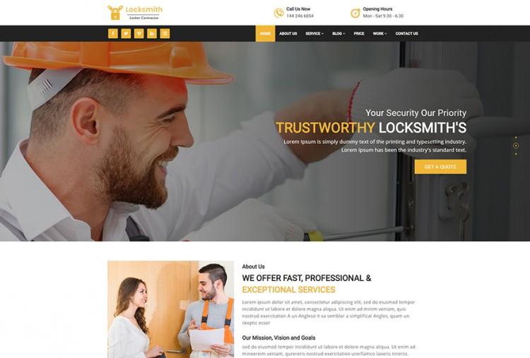 Locksmith HTML Website Template