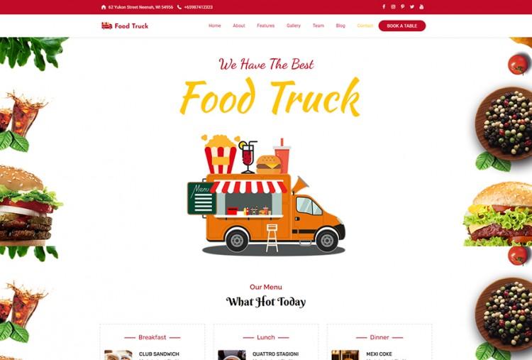 Food Truck WordPress Theme | WP Street Food Themes