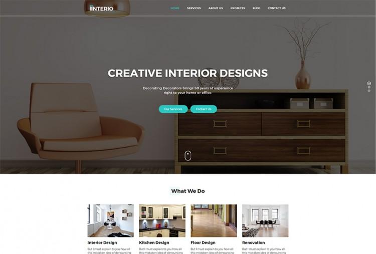 Interior Design Html Website Template Premium Html Website Templates Wordpress Themes Template Bundle,Modern Tri Fold Brochure Design Ideas