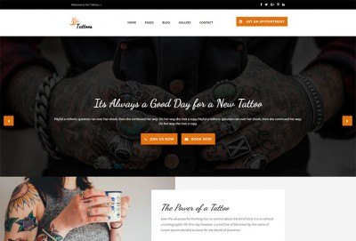 Tattoo HTML Website Template
