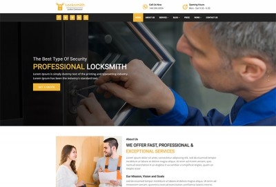 Locksmith HTML Website Template