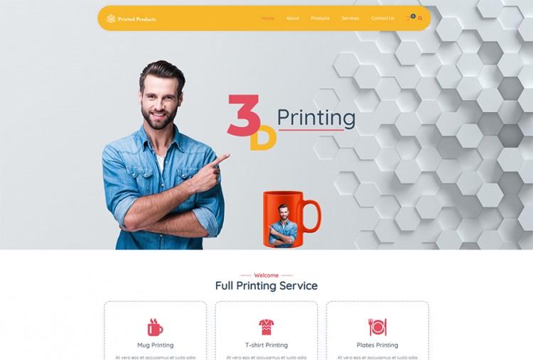 3D Printing WordPress Theme   Printing Shops WP Themes