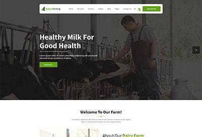 Dairy Farming HTML Website Template
