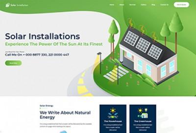 Solar Installation HTML Website Template
