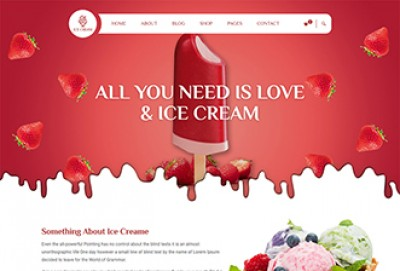 Ice Cream Shop, Parlour HTML Website Template