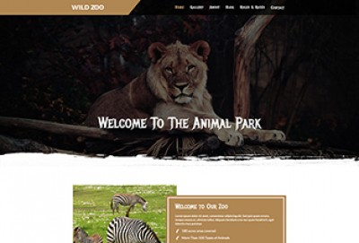 Wild Zoo Multipage HTML Website Template