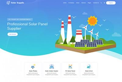 Solar Energy WordPress Theme | Solar Supplier WordPress Theme