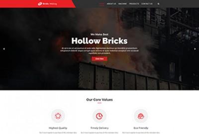 Brick Making Architecture & Construction WordPress Theme
