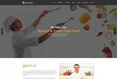 Fast Food Restaurants WordPress Theme
